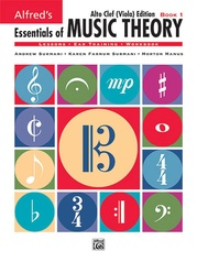 Alfred's Essentials of Music Theory: Book 1 Alto Clef (Viola) Edition