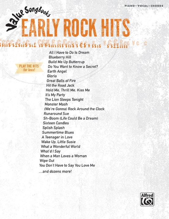 Value Songbooks: Early Rock Hits