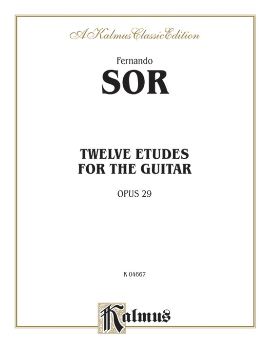 Twelve Etudes for the Guitar, Opus 29