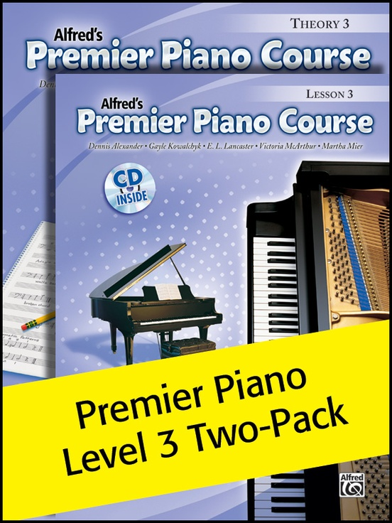 Premier Piano Course, Lesson & Theory 3 (Value Pack)