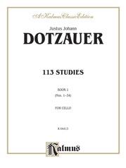 113 Studies, Volume I (Nos. 1--34)