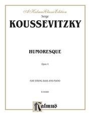 Humoresque, Opus 4