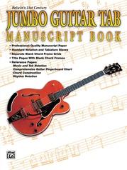 Belwin's 21st Century Jumbo Guitar TAB Manuscript Book