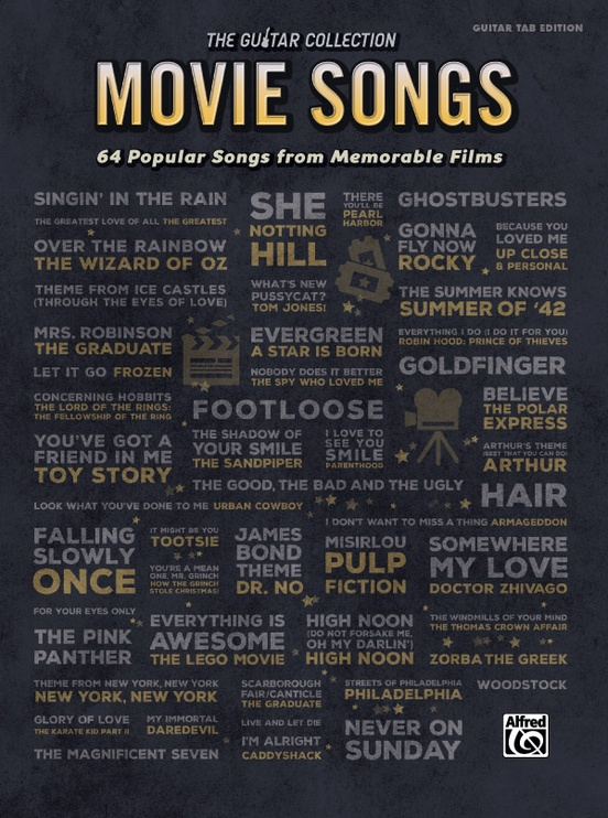 The Guitar Collection: Movie Songs: Guitar TAB Edition Book