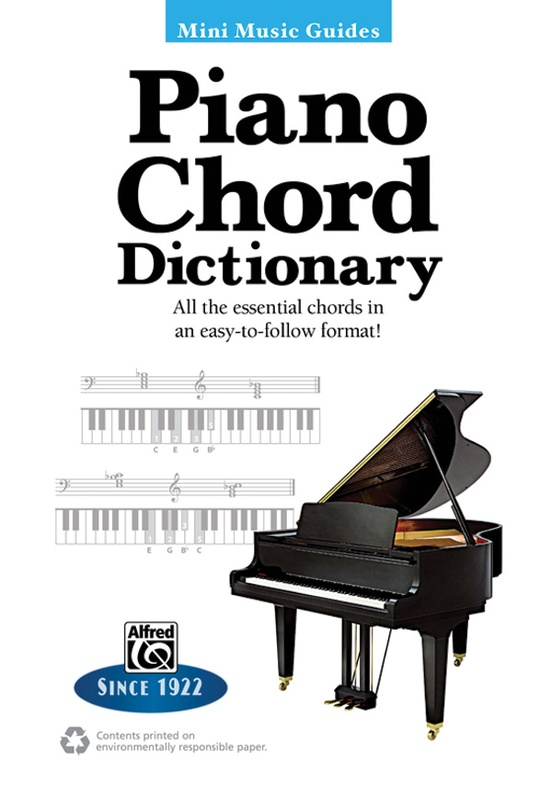 Mini Music Guides Piano Chord Dictionary Keyboardpiano Book