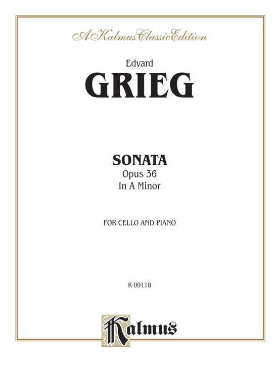 Cello Sonata in A Minor, Opus 36