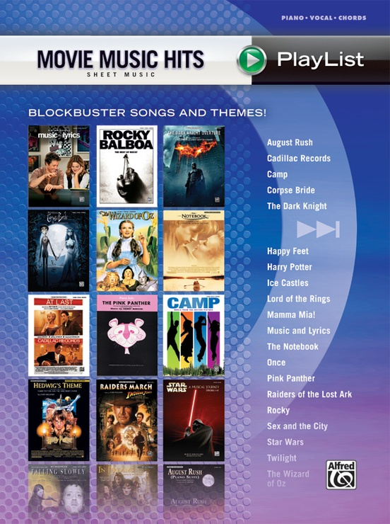 Movie Music Hits Sheet Music Playlist Pianovocalchords Book