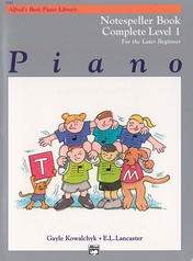 Alfred's Basic Piano Library: Notespeller Book Complete 1 (1A/1B)