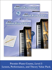 Premier Piano Course, Lesson, Theory & Performance 3 2012 (Value Pack)
