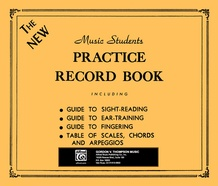 The New Music Students Practice Record Book