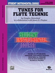 Student Instrumental Course: Tunes for Flute Technic, Level III