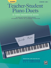 Easy Teacher-Student Piano Duets in Three Progressive Books, Book 1