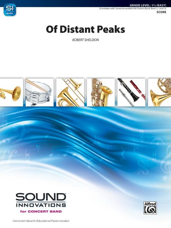 Of distant peaks concert band conductor score parts robert sheldon fandeluxe Images