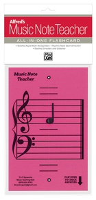 Alfred's Music Note Teacher: All-In-One Flashcard (Pink)