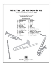 What the Lord Has Done in Me