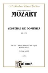 Vesperae de Dominica, K. 321