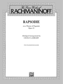 Rhapsody, Opus 43, on a Theme by Paganini (Abridged Arrangement)