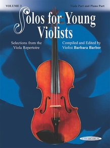 Solos for Young Violists Viola Part and Piano Acc., Volume 3