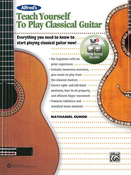 Alfred S Teach Yourself To Play Classical Guitar Guitar Book Online Video Audio Software