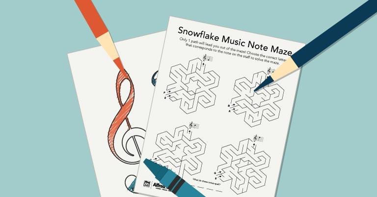 Snowflake Music Maze Activity