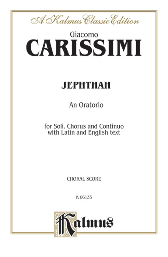 Jephthah, An Oratorio