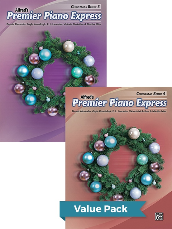 Premier Piano Express Christmas, Books 3 & 4 (Value Pack)