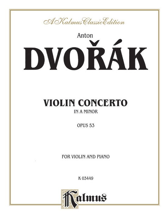 Concerto in A Minor, Opus 53