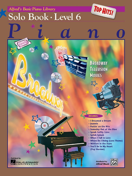 Alfred's Basic Piano Library: Top Hits! Solo Book 6
