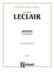 """Sonata """"Le Tombeau"""""""