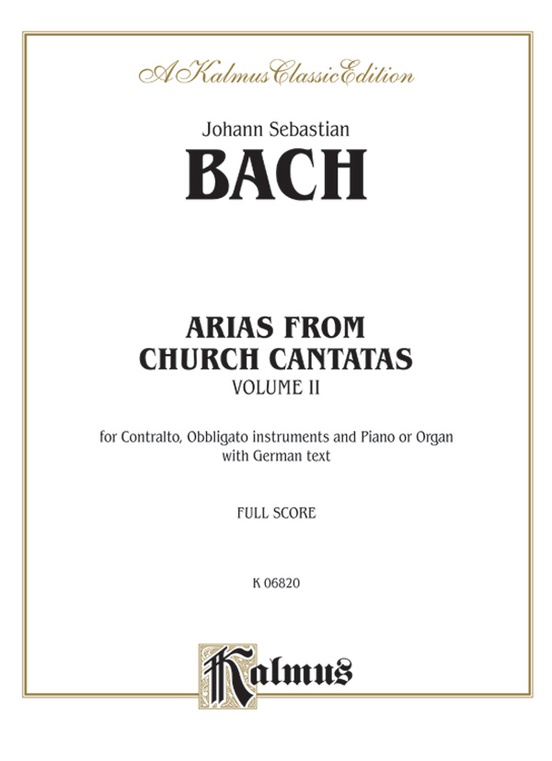 Arias from Church Cantatas, Volume II (12 Sacred)