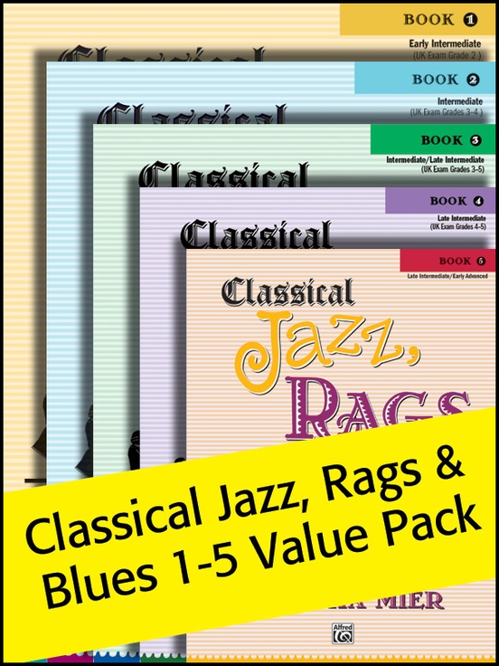 Classical Jazz, Rags, and Blues Books 1-5 2012 (Value Pack)