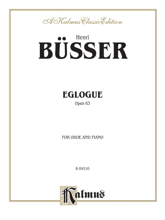 Eglogue, Opus 63
