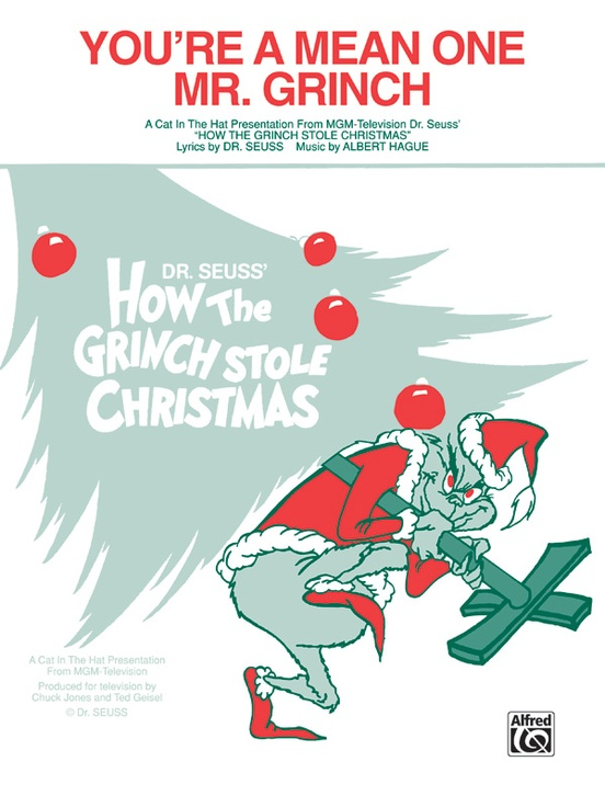 You\'re a Mean One, Mr. Grinch: Piano/Vocal/Chords Sheet: Albert Hague