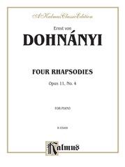 Rhapsody, Opus 11, No. 4