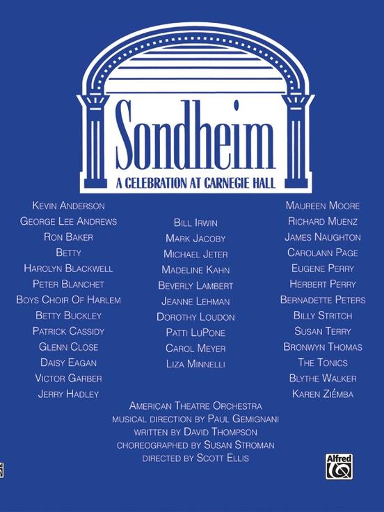 Stephen Sondheim: A Celebration at Carnegie Hall