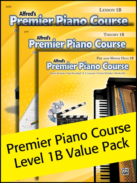 Premier Piano Course, Lesson, Theory & Pop Hits 1B (Value Pack 2012)