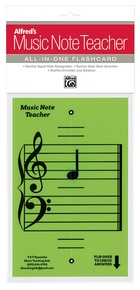 Alfred's Music Note Teacher: All-In-One Flashcard (Green)