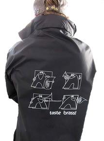 Taste Brass! Raincoat: Black (Extra Large)