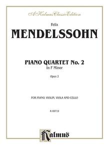 Piano Quartets No. 2 in F Minor, Opus 2