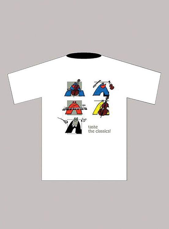 Taste the Classics! T-Shirt: White (Large)