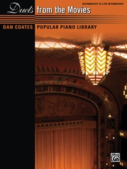 Dan Coates Popular Piano Library: Duets from the Movies