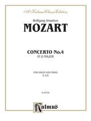 Violin Concerto No. 4, K. 218