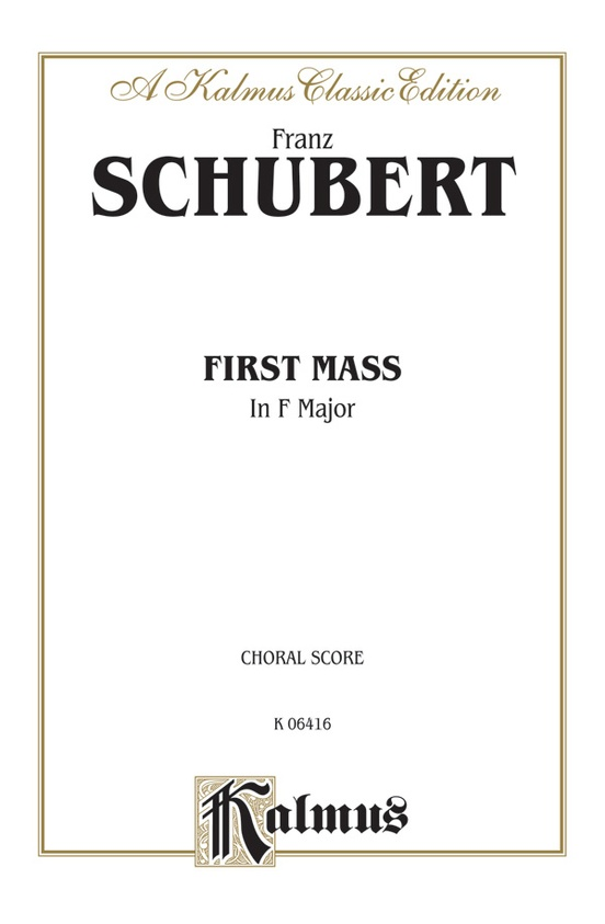 First Mass in F Major