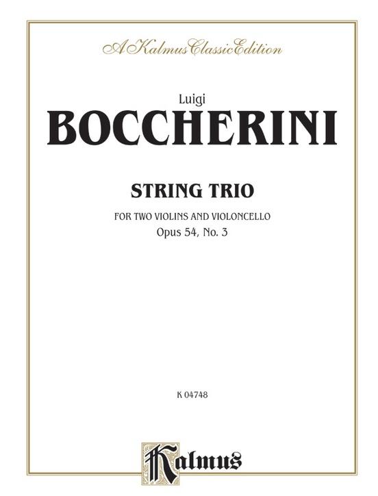 String Trio, Opus 54, No. 3: For Violin, Viola and Cello: 0 (Kalmus Edition)