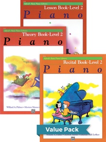 Alfred's Basic Piano Library Lesson, Theory, Recital 2 (Value Pack)