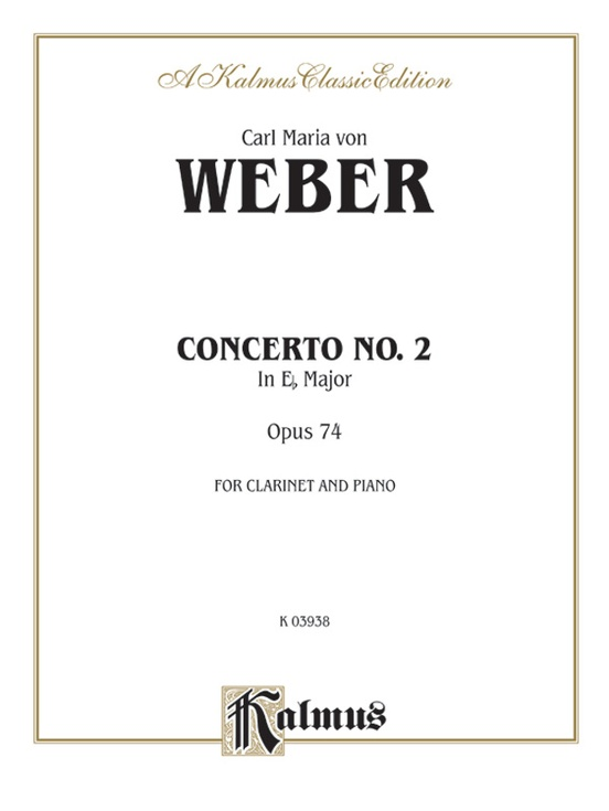 Clarinet Concerto No. 2 in E-flat Major, Opus 74