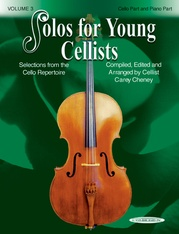 Solos for Young Cellists Cello Part and Piano Acc., Volume 3
