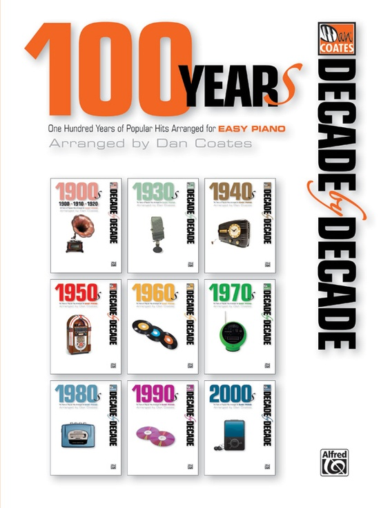 Decade By Decade 100 Years Piano Book