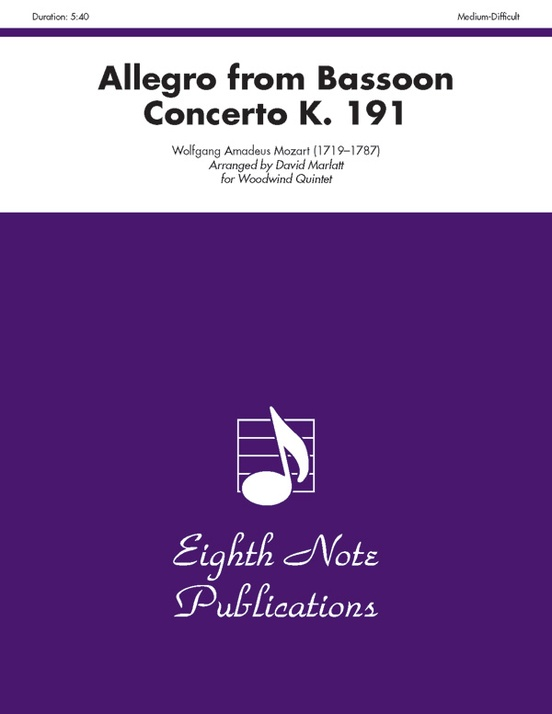Allegro (from Bassoon Concerto, K. 191)