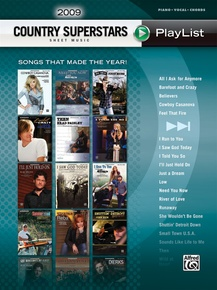 2009 Country Superstars Sheet Music Playlist